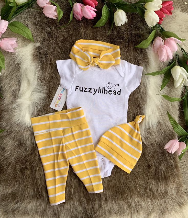 576bbdc6aa03 Lemon stripes girl Coming Home Outfit/Take Home Outfit For Girl/isnt she  lovely
