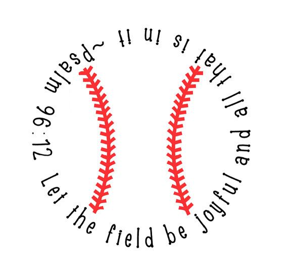 Baseball Decal with Bible Verse I LOVE this! GDdaddy & Riley