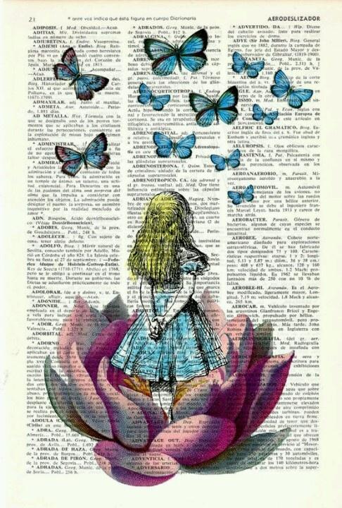 Dictionary art na gazecie pinterest wonderland for Forward dictionary