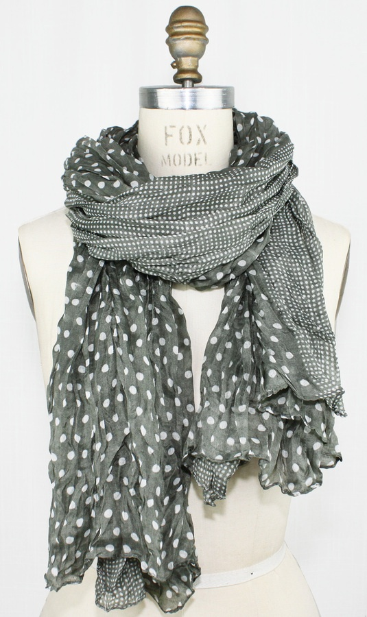 Sheer Polka Dot Scarf- going to look for fabric like this and make some infinity scarves for my daughter-in-law...