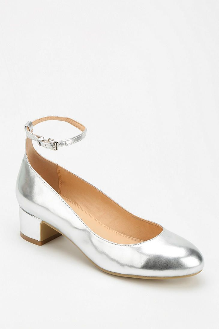 Metallic Kitten Heel Shoes