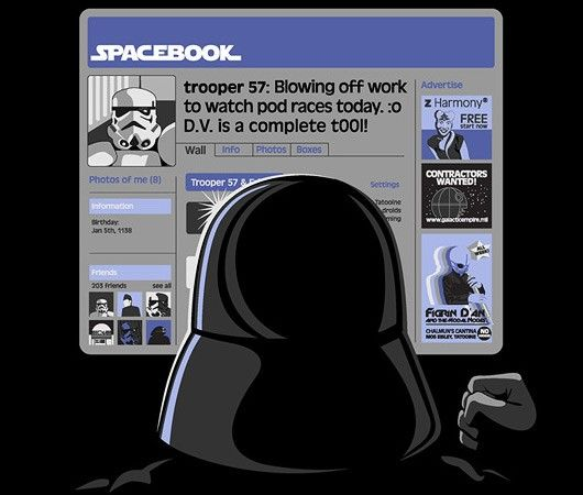 Evil overlords need love too friend darth on spacebook