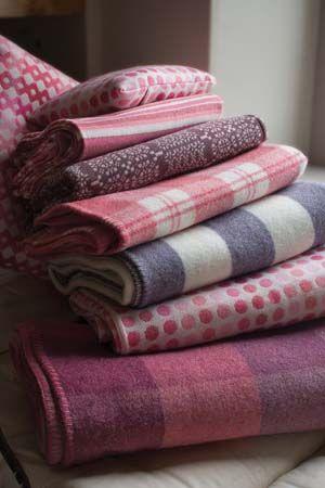 Beautiful Welsh woolen blankets woven in a tiny mill in Pembrokeshire.