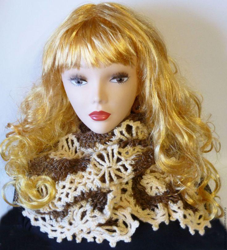Купить Кружевной вязаный шарф-палантин - специальная рубрика, мода, мода 2016, стиль