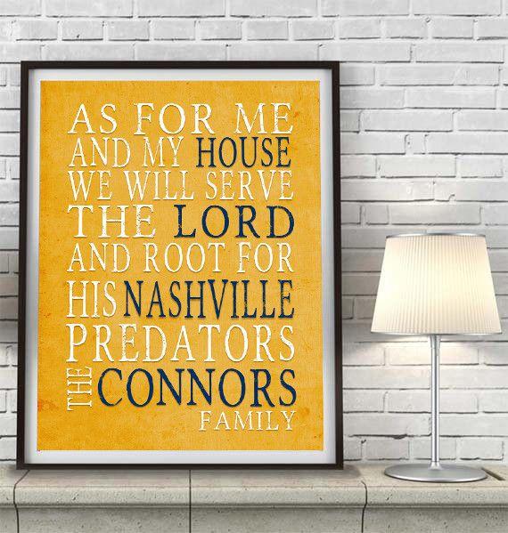 "Nashville Predators hockey inspired Personalized Customized Art Print- ""As for Me"" Parody- Unframed Print"