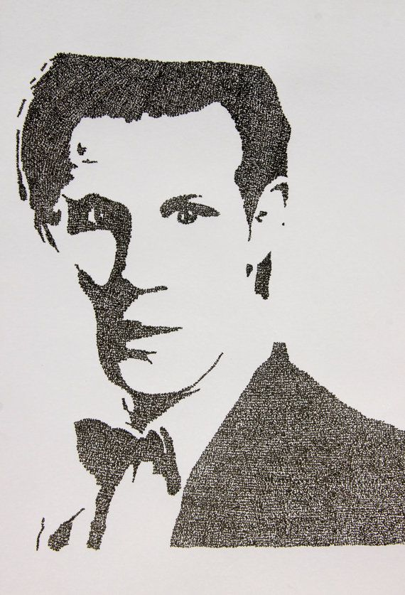 """Matt Smith from Doctor Who - hand written (""""Matt Smith The Eleventh Doctor"""") typography"""