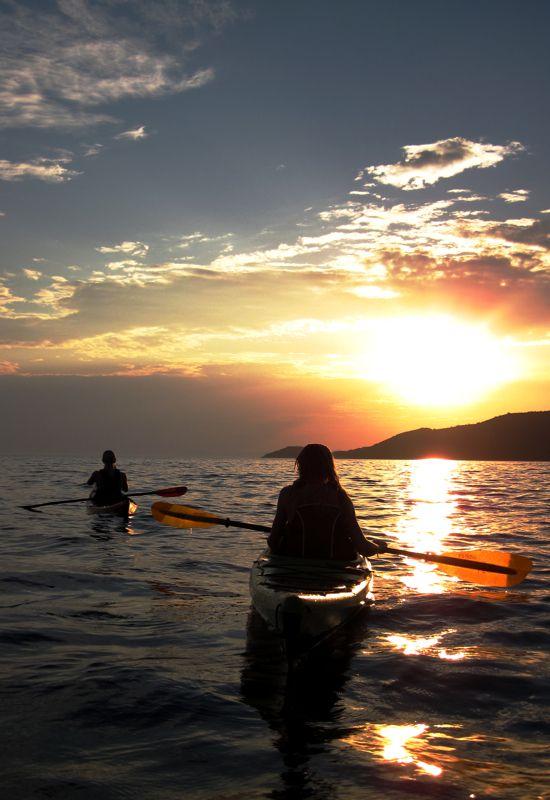 Sunset kayak tour on Skopelos