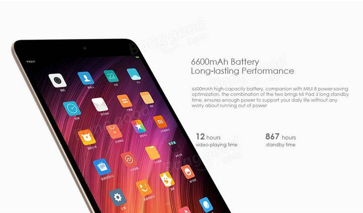 XIAOMI Mi Pad 3 64GB MTK MT8179 Hexa Core 4G RAM 7.9 Inch MIUI 8 Tablet PC