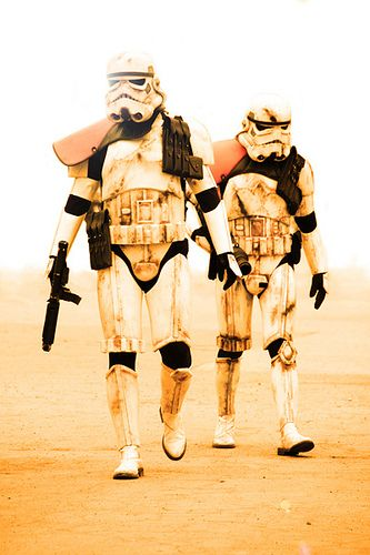 Rough day on Tattooine. It's like they let a smuggling ship blast its way out of Mos Eisley spaceport or something.