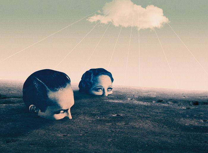 One Million Years Trip - Julien Pacaud • Illustration • Perpendicular Dreams