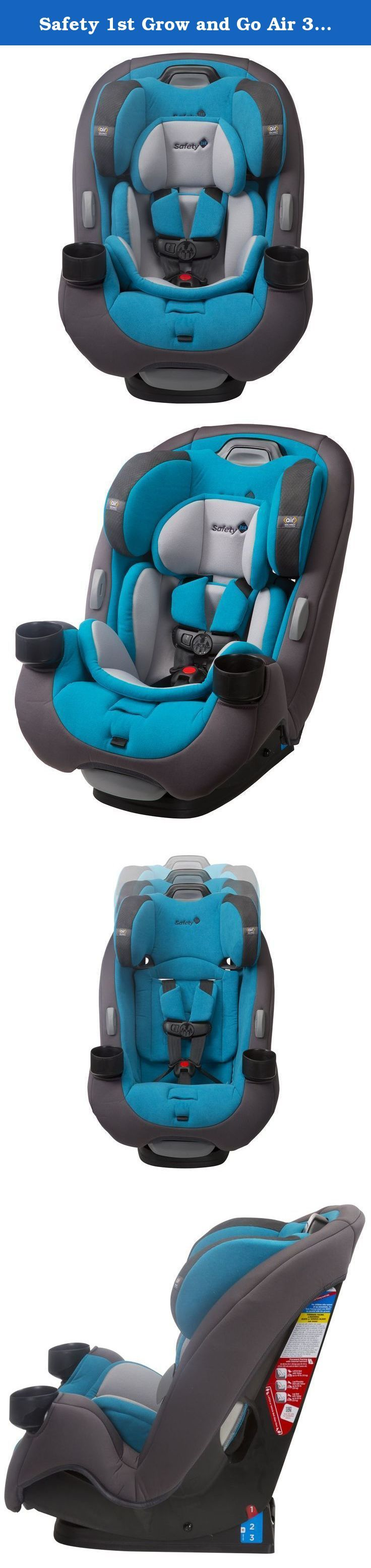Safety 1st Grow and Go Air 3-in-1 Car Seat, Evening Tide. Get the car seat that's built to grow and provide your child with superior protection every step of the way. From your first ride together coming home from the hospital to soccer game car pools, the 3-in-1 Grow and Go Air Car Seat from Safety 1st will give your child a safer and more comfortable ride. Featuring extended use at each stage, this convertible car seat is designed to last through all your firsts with your child. From...