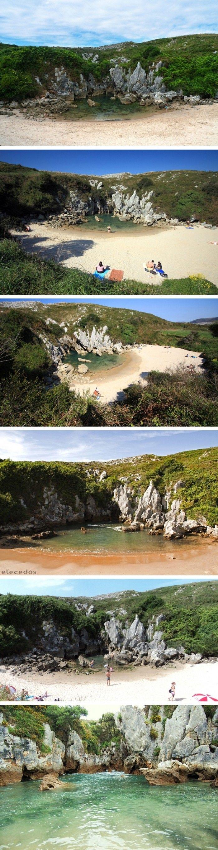 ...Denizi Olmayan Sahil Playa De Gulpiyuri'den Muhteşem Kareler