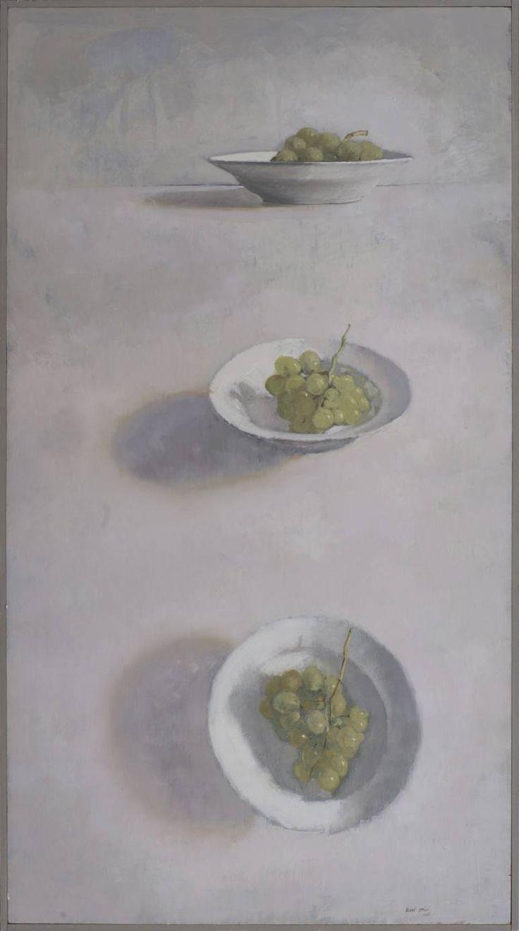 "Saatchi Art Artist Juan Manuel Álvarez Cebrián; Painting, ""Three plates with white grapes."" #art"