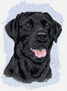 Black labrador dog (no 2) cross stitch kit or pattern | Yiotas XStitch