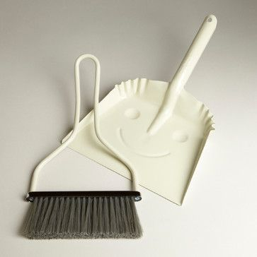 Ivory Smiley Dustpan contemporary mops brooms and dustpans
