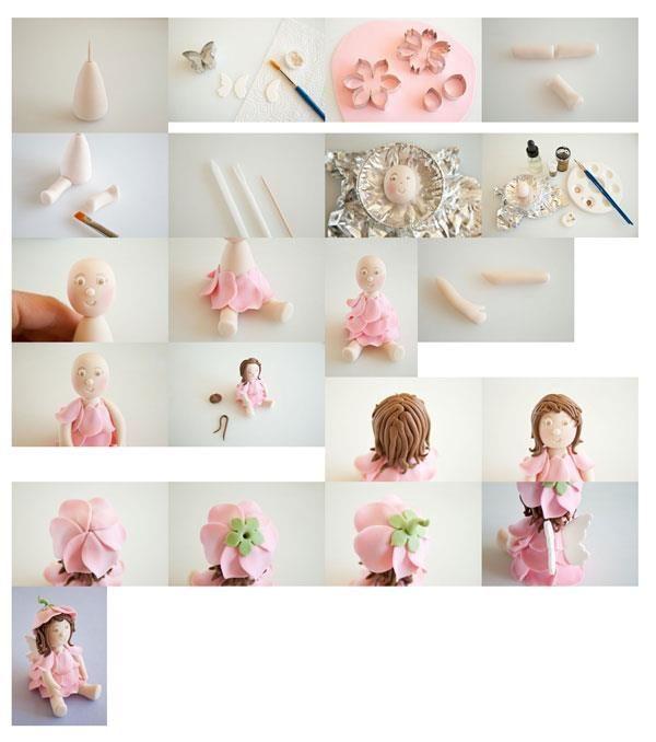 fondant flower girl