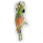 Absolutely stunning silver 3 dimensional parrot charm