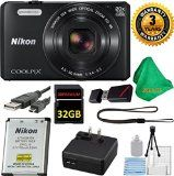 Nikon COOLPIX S7000 Camera with 20x Zoom and Wi-Fi (Brand New White Box Packaging)  3 Year USA CPA Warranty  5pc Starter Set  Microfiber Cloth  32GB DBPREMIUM Memory Card  Reader