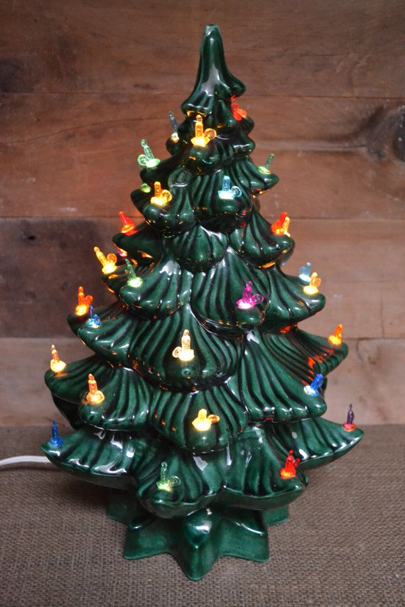 Ceramic Tabletop Christmas Tree With Lights Mesmerizing 67 Best Ceramic Kitchmas Trees Images On Pinterest  Ceramic Design Decoration