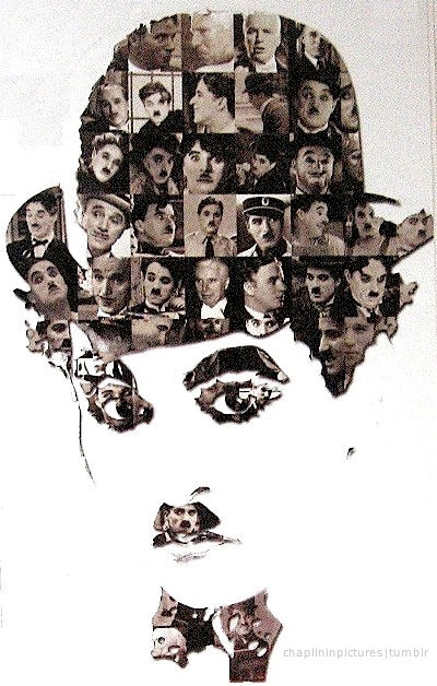 charlie chaplin ~ photo idea of band seniors in a collage