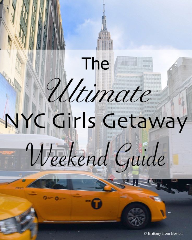 Experience NYC like a local with this ultimate girls getaway weekend guide to the city!