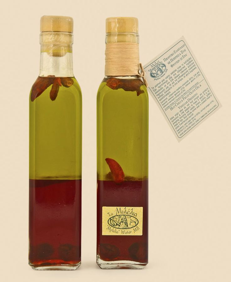 Aromatic Olive Oil & Vinegar with Chilli Peppers #Mylelia #OliveOil #Vinegar #ChilliPeppers #HotChilliVinegar #GreekProducts
