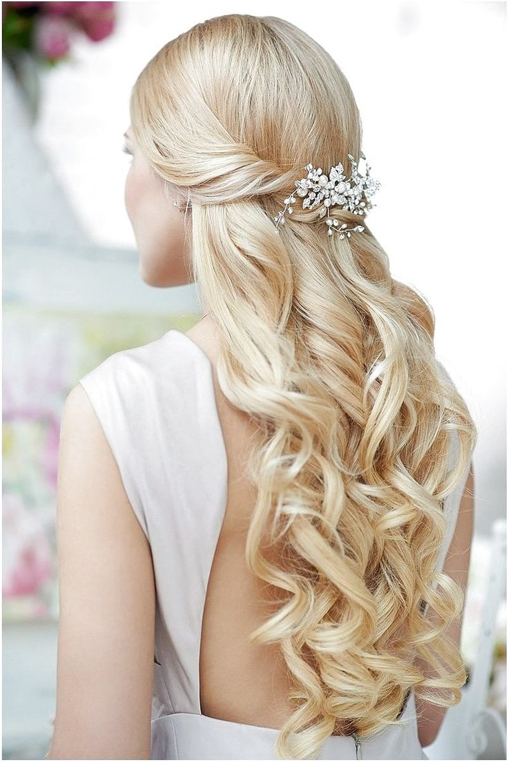 20 Half Up Half Down Wedding Hairstyles Ideas - click on the image or link for more details.
