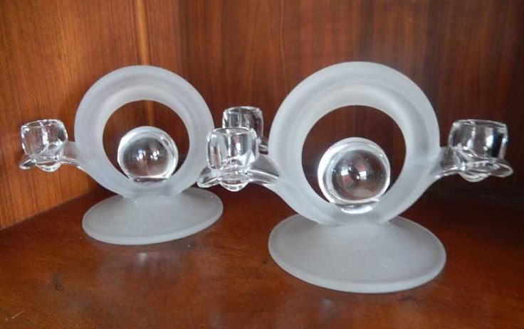 True 1920s Art Deco Frosted Glass Candleholders Pair Wedding Gift to Grandma in 1924 by gypsytejas on Etsy https://www.etsy.com/listing/255354060/true-1920s-art-deco-frosted-glass