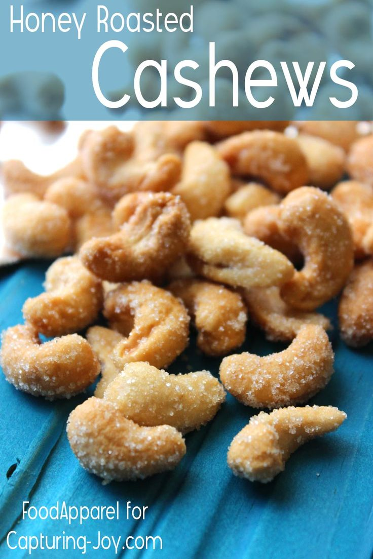 Honey-Roasted Cashews, a light and simple snack to create for any party or gathering.