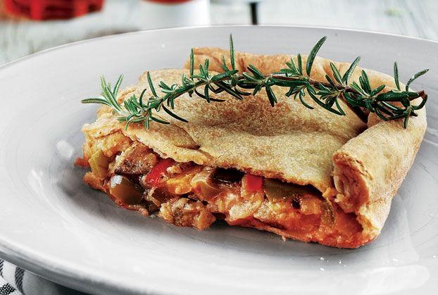 Πίτα µε ζύµη µαγιάς και λαχανικά