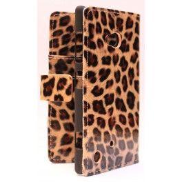 Lumia 625 leopardi lompakkosuojakotelo.