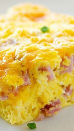 Baked Ham and Cheese Omelette Recipe
