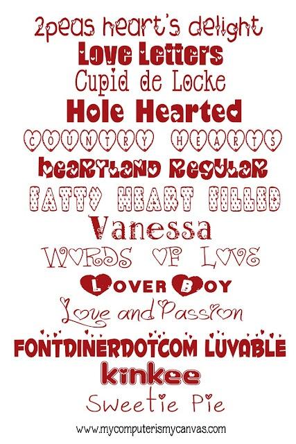 Valentine Fonts!