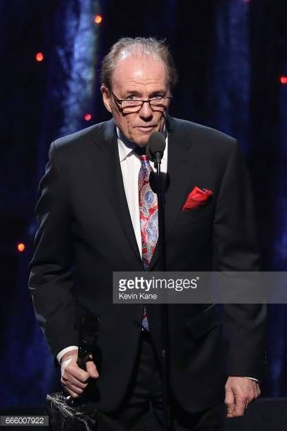 Aynsley Dunbar at the Rock & Roll Hall Of Fame induction ceremony 2017 with Journey