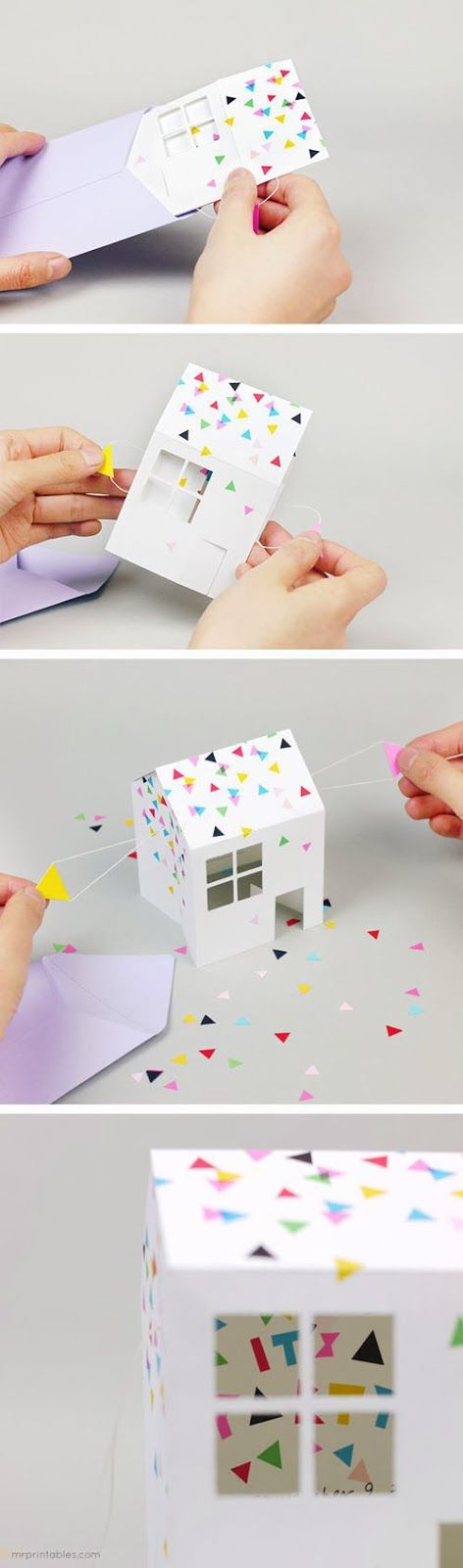 New Home or Celebrate CARD - 3-D House - mommo design: PAPER CRAFTS