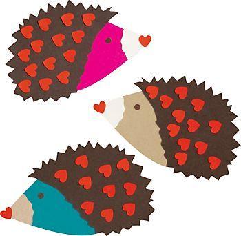 Hedgehogs Valentine Card Kit   Paper Source