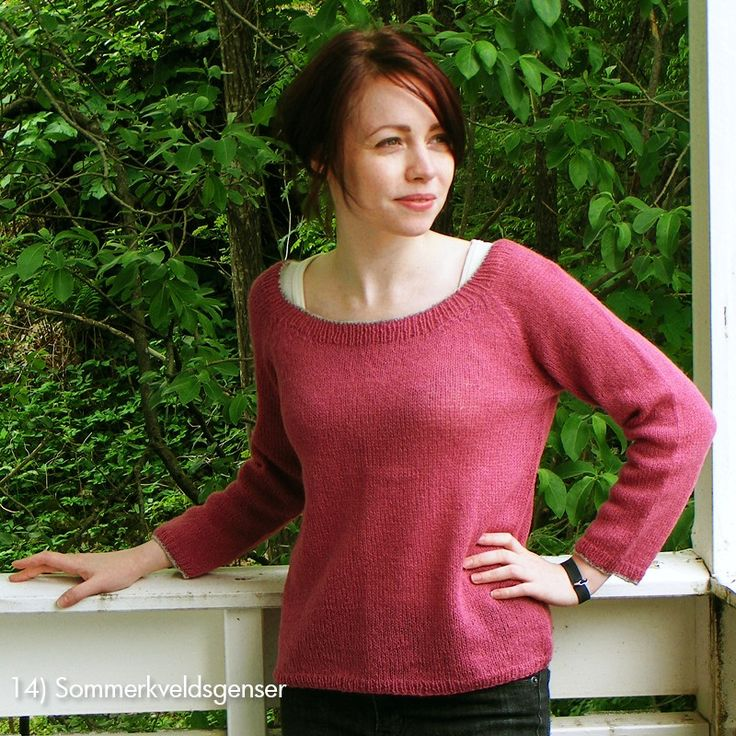Enkel genser, 24m pr 10 cm Totrådsgarn, babyull