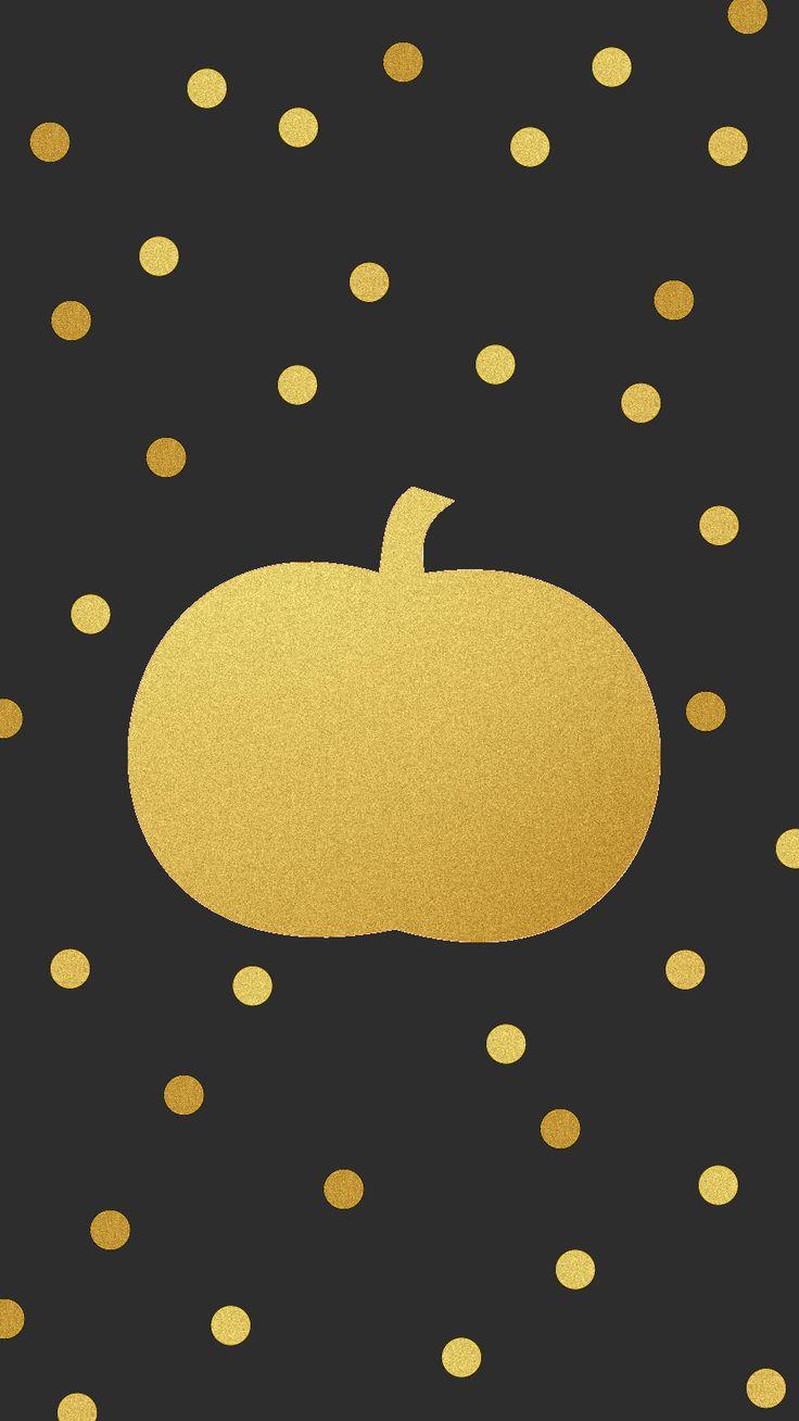 Gold pumpkin Cute fall wallpaper, Halloween wallpaper