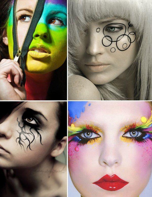 kreative interessante ausgefallene ideen schminken sicher toll auftreten