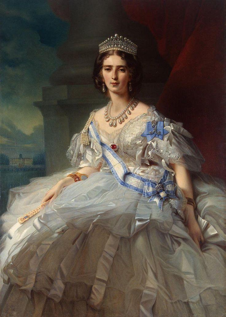 1858 Princess Tatiana Alexandrovna Youssoupova, née Countess Ribeaupierre by Franz Xavier Winterhalter (Arkhangelskoie Estate Museum - Moskva Russia) | Grand Ladies | gogm