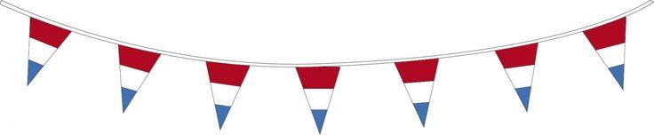 Versier de buurt op Koningsdag met onze vlaggenlijn in rood-wit-blauw of oranje! Bekijk de website voor meer.