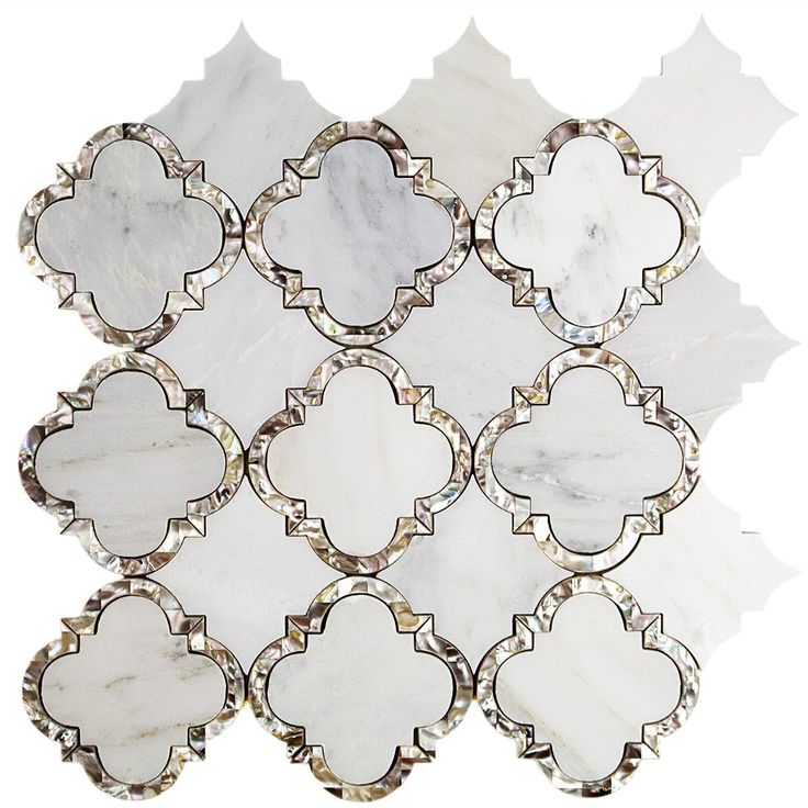Cassie Chapman Eva Marble and Pearl Tile $39.95 per sheet
