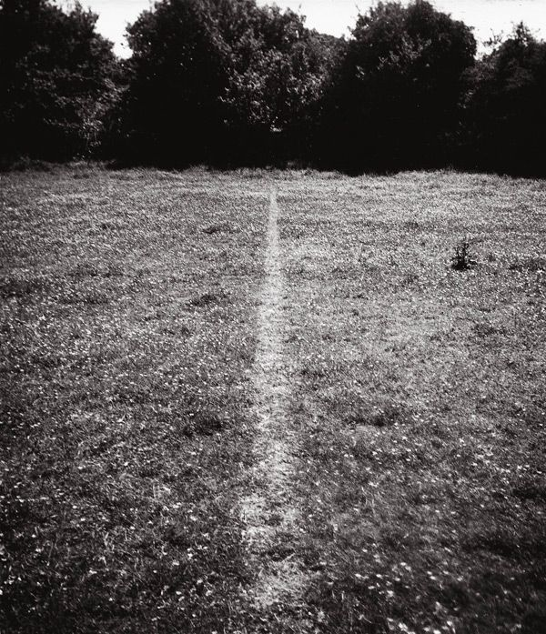 a line made by walking, 1967 • richard long This reminds me of the path from my house to my grandmothers.