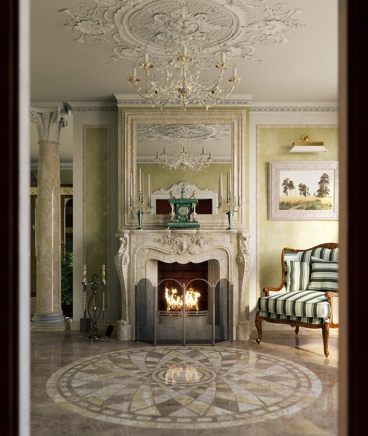 fireplace medallions. Fireplace by Ganzha Maksim A  23 best Mantels images on Pinterest mantels