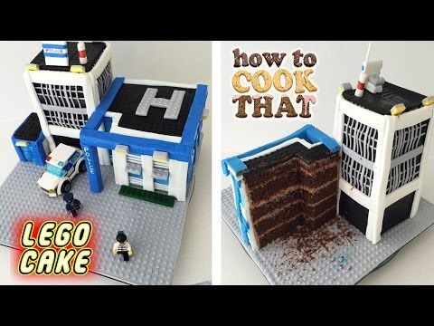 HowToCookThat: Pasteles, postres y chocolate | LEGO Cake - LEGO City Cake Policía - HowToCookThat: pasteles, postre y chocolate