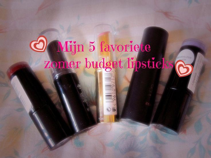 Live, Life and Dream: Mijn 5 favoriete zomer budget lipsticks
