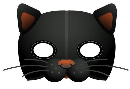 Маски котов из бумаги на голову | Котеко