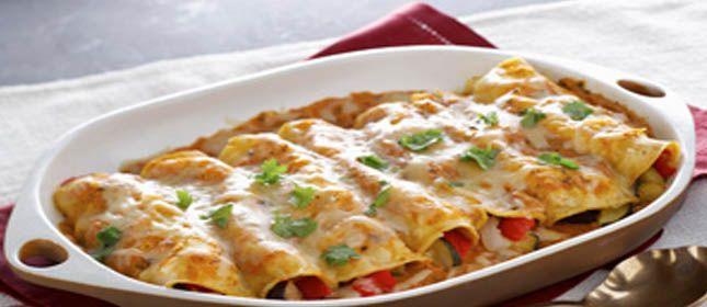 Enchilada de vegetales