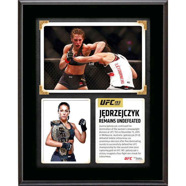 Joanna Jedrzejczyk Ultimate Fighting Championship Fanatics Authentic 10.5'' x 13'' UFC 193 And Still Women's Strawweight Champion Sublimated Plaque - $23.99