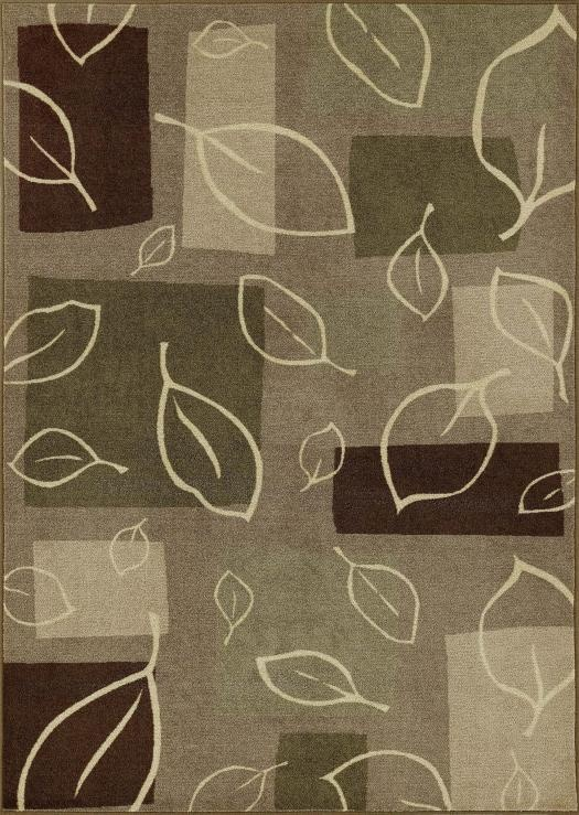 Green Leaf Pattern Area Rug Home Decor